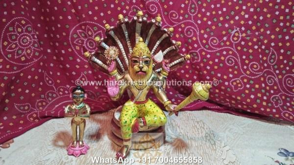 Prahalad Narasimha Dev 10 inches-Painted 12