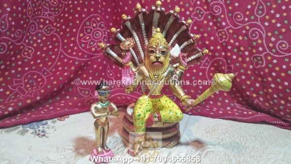 Prahalad Narasimha Dev 10in-Painted 1