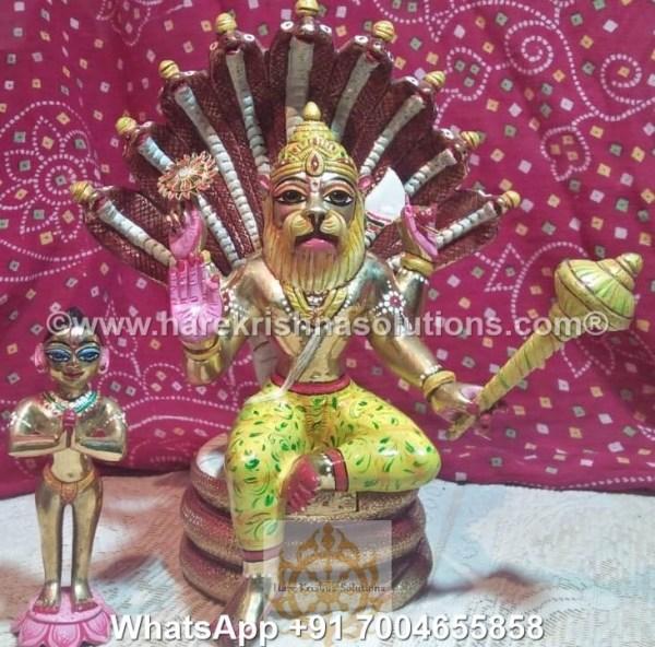 Prahalad Narasimha Dev 10in-Painted 5