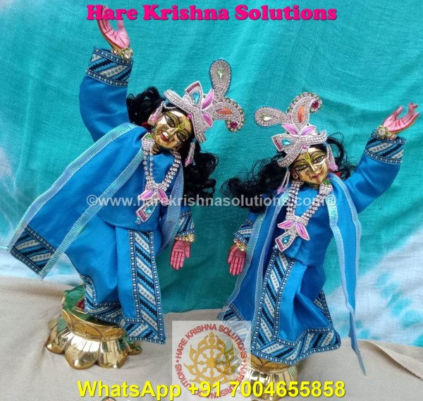 Gaura Nitai 12 SPL inches Light Blue Dress (10)