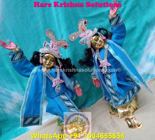 Gaura Nitai 12 SPL inches Light Blue Dress (11)