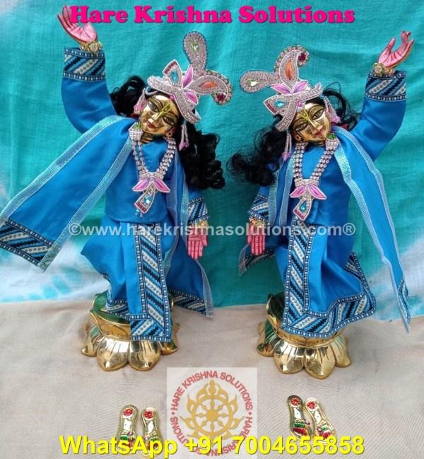 Gaura Nitai 12 SPL inches Light Blue Dress (13)