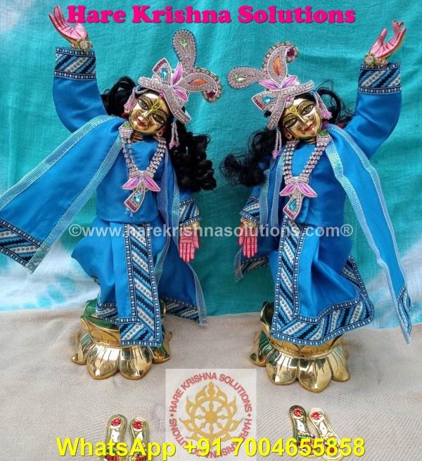 Gaura Nitai 12 SPL inches Light Blue Dress (17)