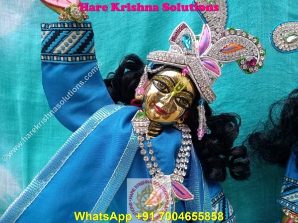 Gaura Nitai 12 SPL inches Light Blue Dress (3)