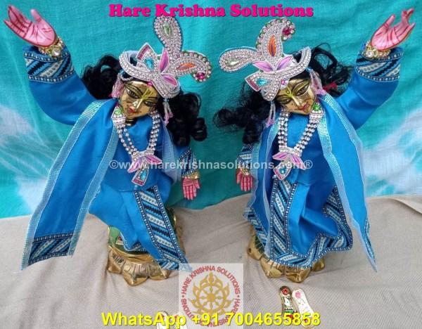 Gaura Nitai 12 SPL inches Light Blue Dress (5)