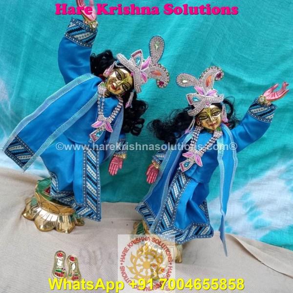 Gaura Nitai 12 SPL inches Light Blue Dress (7)