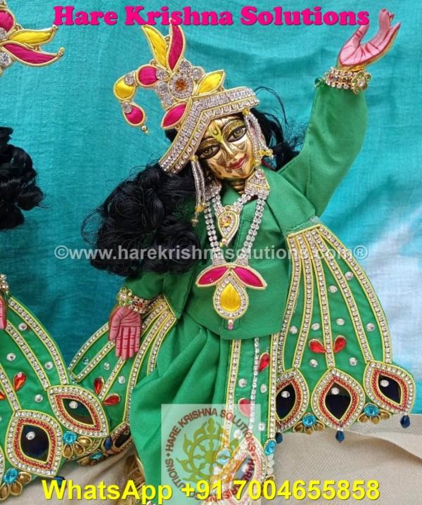 Gaura Nitai 12 SPL inches Light Green Dress (2)