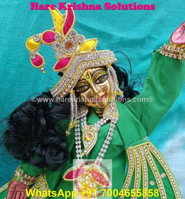 Gaura Nitai 12 SPL inches Light Green Dress (6)