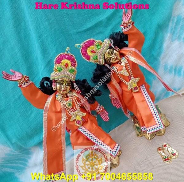 Gaura Nitai 12 SPL inches Orange Dress (9)
