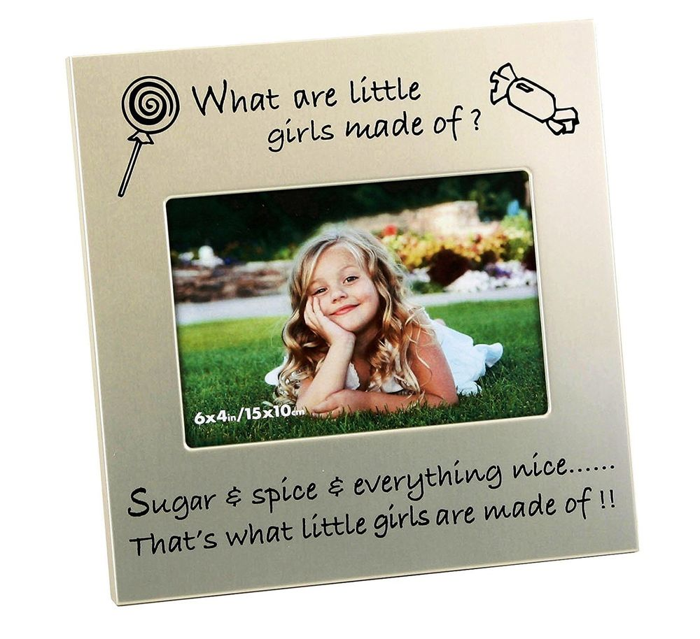 WHAT ARE LITTLE GIRLS MADE OF PHOTO FRAME Hares Amp Graces