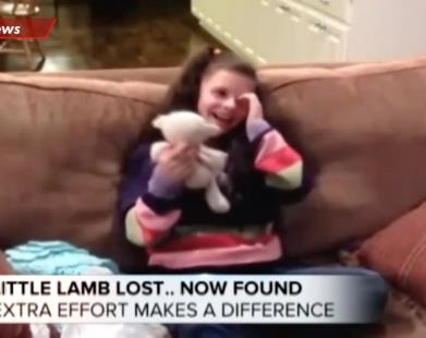 Young Girl Reunites With Lost Stuffed Animal
