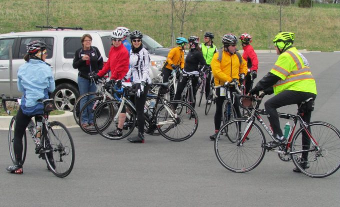 Bikers in The Arc NCR Harford Hills Ride 2015- Cyclists get ready to start the ride in the 2015 Harford Hills Bike Adventure.