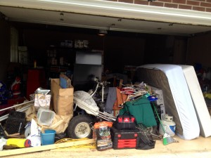 "The ""before"" shot of the winning garage in the 2014 Carl's Messiest Garage Contest."