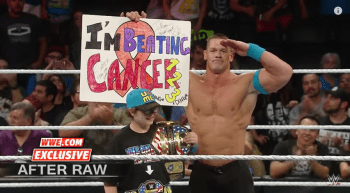 "John Cena Encourages Young Fan To ""Never Give Up"""