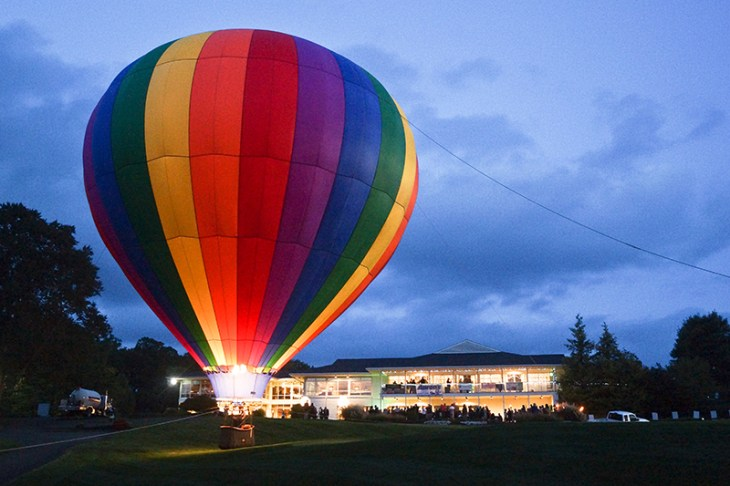 Attendees of the SARC Balloon Glow Gala will enjoy the stunning view of lighted hot air balloons all evening.