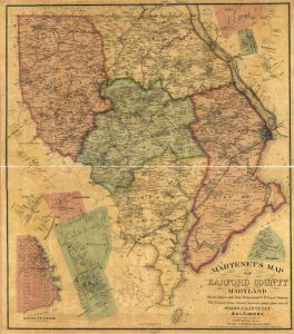Martenet's Map of Harford County