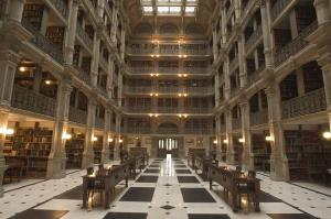 Attendees of the Doors Open Baltimore tour on October 24 will have the opportunity to tour the George Peabody Library with its six story Stack Room featuring five tiers of cast-iron, ornamental balconies and more than 300,000 books from the 18th to 20th centuries.
