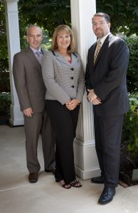 The partners at Shaffer, McLauchlin & Stover (l. to r.): Bradley R. Stover, Gina D. Shaffer and Eric E. McLauchlin.