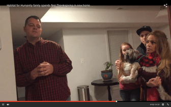 Family Hosts First Thanksgiving