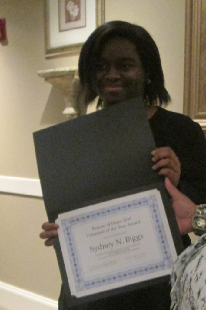 17-year old Sydney Biggs was named the Havre de Grace Housing Authority Volunteer of the Year.