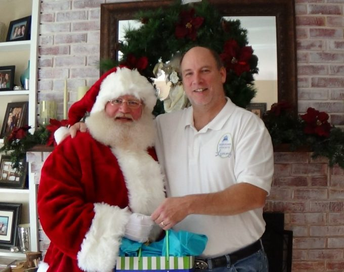 Santa Claus and Rich Bennett, Owner of Harford County Living