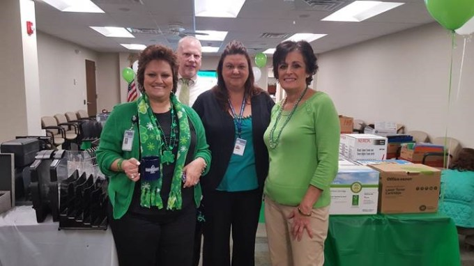 Pictured from left to right are Procurement Director Karen Myers and Procurement staff members Dan Guthrie, Stacy Rappold, and Sharon Vanden Eynden
