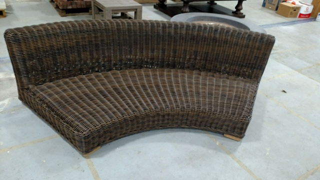 Great Finds Like This Curved Wicker Sofa Will Be Available At The Aberdeen  ReStore For A