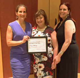 Pictured from left: Lorig Charkoudian, executive director of Community Mediation Maryland; Nancy Mahoney, executive director of the Harford County Bar Foundation and 2016 Harford County Community Mediation Program Volunteer of the Year, and Susan Fisher, manager of the Office of Human Relations and Mediation in the Harford County Dept. of Community Services