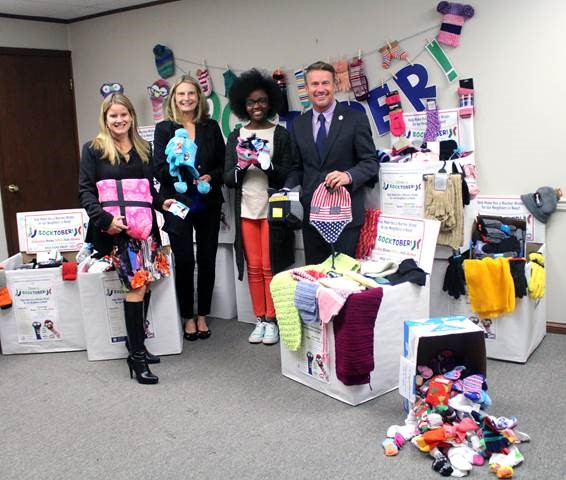 Pictured from left: Amber Shrodes, director of Harford County Community Services; Mary Hastler, CEO of Harford County Public Library; Grace Callwood, founder and chairwoman of The We Cancerve Movement, Inc.; Harford County Executive Barry Glassman.