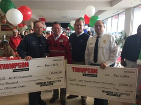 Thompson Automotive of Harford County Gives to Harford County Sheriff's Christmas Drive And Joppa Magnolia Volunteer Fire Company