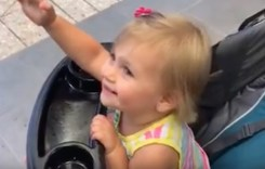 Watch Adorable Toddler Mistake Batman Statue as Her Father