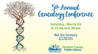 Harford County Public Library Offers Fifth Genealogy Conference