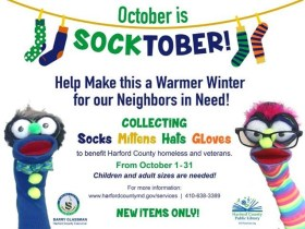 """Harford County """"SOCKtober"""" Collection Drive in October to Warm Neighbors in Need"""