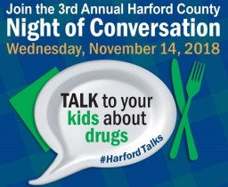 "Harford County Encourages Family Dinnertime Conversations about Drugs and Alcohol  on a ""Night of Conversation"" Wednesday, November 14"