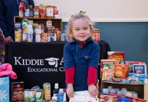 Local Child Care Learning Center Donates Food & Coats for Kids