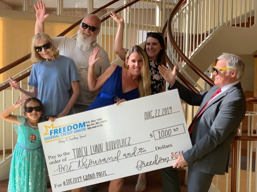 FREEDOM FEDERAL CREDIT UNION AWARDS $1,000 TO ITS #SUMMEROFFREEDOMFCU GRAND PRIZE WINNER