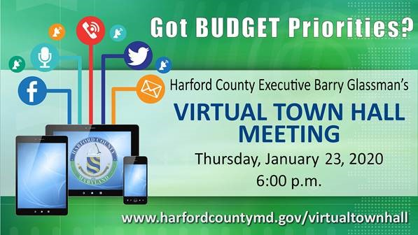Harford County Executive Glassman Invites Citizen Input on FY21 Budget