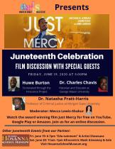 Just Mercy Post Film Discussion on Friday, June 19, 2020 at 5pm