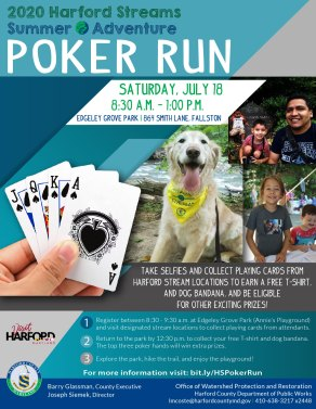 """Deal Yourself In for Harford Streams Summer Adventure """"Poker Run"""" July 18"""