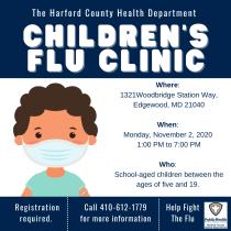 Health Department to Hold a Drive-Thru, Walk-Thru Children's Flu Shot Clinic