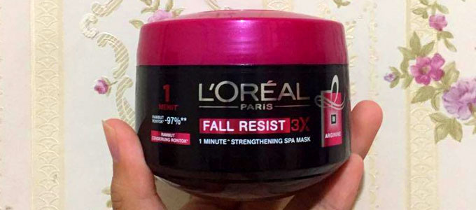 L'Oreal Fall Repair 3x 1 Minute Treatment Hair Mask (sumber: carousell.com)