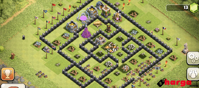 Wall Clash of Clans - (Sumber: teehunter.com)
