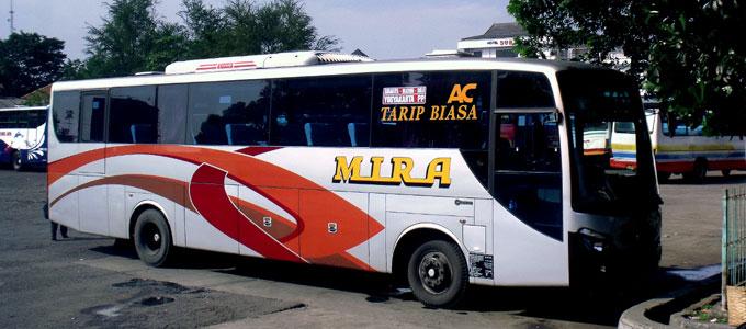 Info Terbaru Harga Tarif Tiket Bus Mira Surabaya Jogja