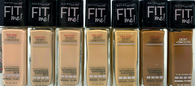 Maybelline Fit Me! Dewy + Smooth Foundation (sumber: ebay)