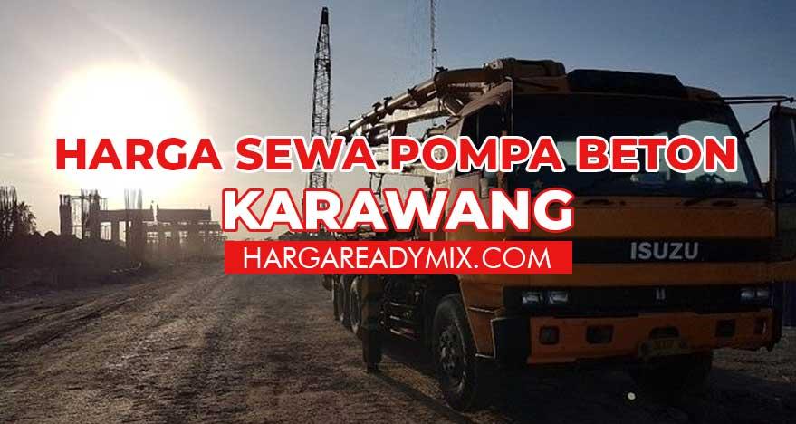 Harga Sewa Pompa Beton Karawang