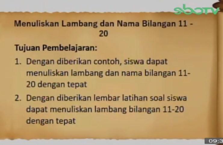 Soal dan Jawaban SBO TV 15 September SD Kelas 1