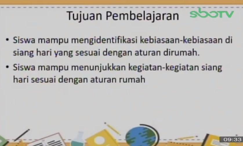 Soal dan Jawaban SBO TV 16 September SD Kelas 1
