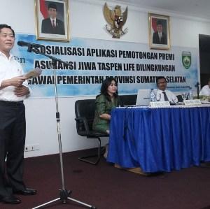 Demi Pensiunan PNS, Berita Sumsel: Pemprov Sumsel Jalin Kerjasama Dengan PT Taspen