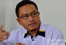 Sekretaris Umum DPW PKS NTB, Uhibbussa'adi saat memberikan keterangan kepada wartawan di kantornya, Sabtu (8/9) (HarianNusa).