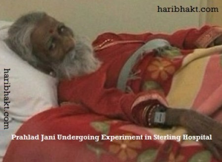 Prahlad Jani monitored in hospital